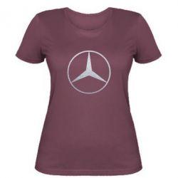 Женская футболка Mercedes Лого Голограмма