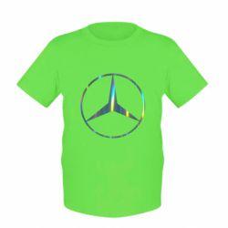 Детская футболка Mercedes Лого Голограмма