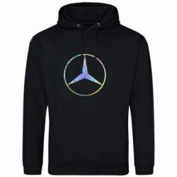 Мужская толстовка Mercedes Лого Голограмма