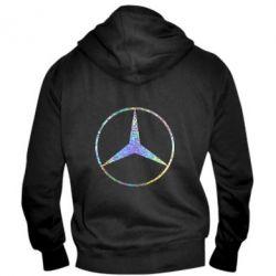 Мужская толстовка на молнии Mercedes Лого Голограмма
