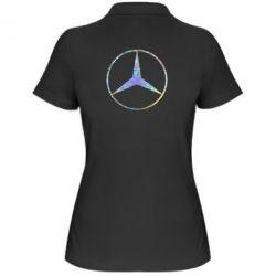 Жіноча футболка поло Mercedes Лого Голограма