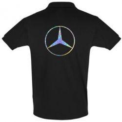 Футболка Поло Mercedes Лого Голограмма