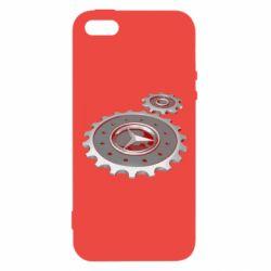 Купить Автомобилистам, Чехол для iPhone5/5S/SE Mercedes logo механизм, FatLine