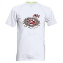 Мужская спортивная футболка Mercedes logo механизм