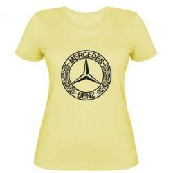 Женская футболка Mercedes Logo - FatLine