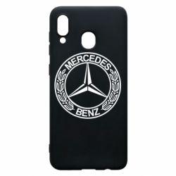 Чохол для Samsung A20 Mercedes Логотип