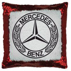 Подушка-хамелеон Mercedes Логотип