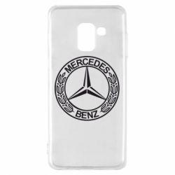 Чохол для Samsung A8 2018 Mercedes Логотип