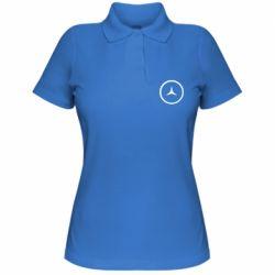 Женская футболка поло Mercedes new logo