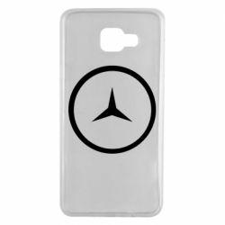 Чехол для Samsung A7 2016 Mercedes new logo