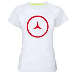 Женская спортивная футболка Mercedes new logo