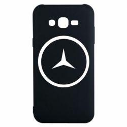 Чехол для Samsung J7 2015 Mercedes new logo