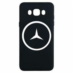 Чехол для Samsung J7 2016 Mercedes new logo