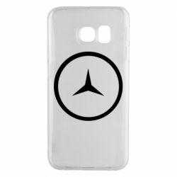 Чехол для Samsung S6 EDGE Mercedes new logo