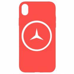 Чехол для iPhone XR Mercedes new logo