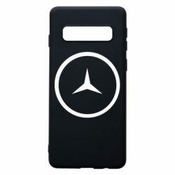 Чехол для Samsung S10 Mercedes new logo