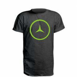 Удлиненная футболка Mercedes new logo
