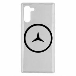 Чехол для Samsung Note 10 Mercedes new logo