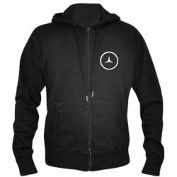 Мужская толстовка на молнии Mercedes new logo