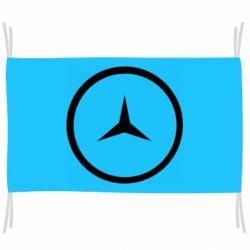 Флаг Mercedes new logo