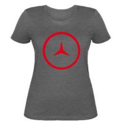 Женская футболка Mercedes new logo
