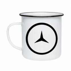 Кружка эмалированная Mercedes new logo