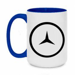 Кружка двухцветная 420ml Mercedes new logo