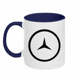 Кружка двухцветная 320ml Mercedes new logo