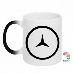 Кружка-хамелеон Mercedes new logo