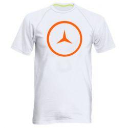 Мужская спортивная футболка Mercedes new logo