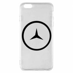 Чехол для iPhone 6 Plus/6S Plus Mercedes new logo