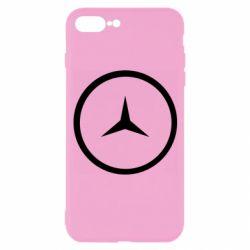 Чехол для iPhone 7 Plus Mercedes new logo