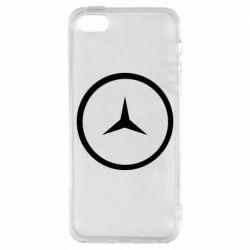 Чехол для iPhone5/5S/SE Mercedes new logo