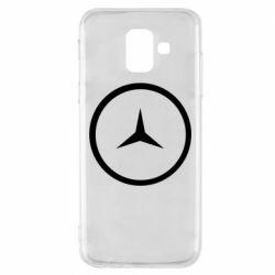 Чехол для Samsung A6 2018 Mercedes new logo