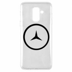 Чехол для Samsung A6+ 2018 Mercedes new logo
