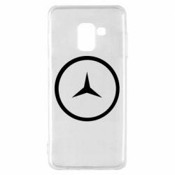 Чехол для Samsung A8 2018 Mercedes new logo