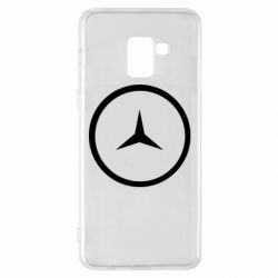 Чехол для Samsung A8+ 2018 Mercedes new logo