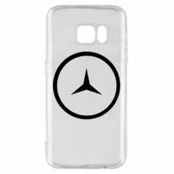 Чехол для Samsung S7 Mercedes new logo
