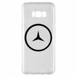 Чехол для Samsung S8+ Mercedes new logo