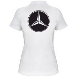 Женская футболка поло Mercedes - FatLine