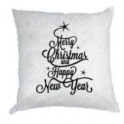 Подушка Merry Christmas and Happy New Year