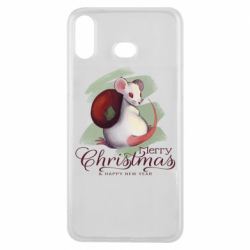 Чехол для Samsung A6s Merry Christmas and white mouse