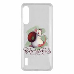 Чохол для Xiaomi Mi A3 Merry Christmas and white mouse