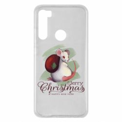 Чехол для Xiaomi Redmi Note 8 Merry Christmas and white mouse