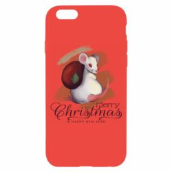 Чехол для iPhone 6/6S Merry Christmas and white mouse