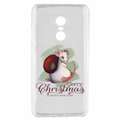 Чехол для Xiaomi Redmi Note 4 Merry Christmas and white mouse