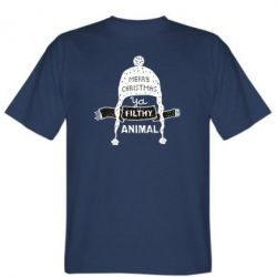 Чоловіча футболка Merry christmas filthy ya animal