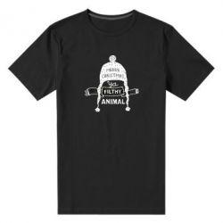 Чоловіча стрейчева футболка Merry christmas filthy ya animal