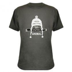 Камуфляжна футболка Merry christmas filthy ya animal