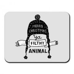Килимок для миші Merry christmas filthy ya animal